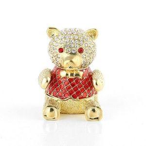 AKM Faberge Teddy Bear Trinket Box